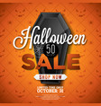 halloween sale with black vector image