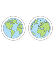 Hand drawn planet earth on white vector image vector image