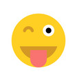 happy yellow emoji face vector image vector image
