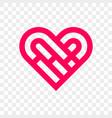 heart logo abstract creative icon vector image vector image