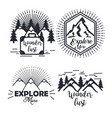 journey label set travel explore adventure symbol vector image