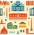 Landmarks of Italy seamless pattern vector image vector image