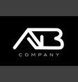 letter ab a b alphabet logo icon template design vector image