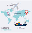 logistic infographics set flat warehouse icons vector image vector image