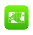 map trips of columbus icon digital green vector image vector image