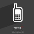 Mobile phone icon symbol Flat modern web design vector image