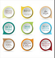 modern badges colorful collection 2 vector image vector image