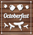 Oktoberfest festival typography background vector image