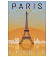 paris vintage poster vector image