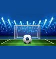 penalty kick realistic soccer ball lying on vector image vector image