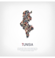 people map country Tunisia vector image vector image