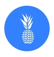 Pineapple icon black Singe fruit icon vector image vector image