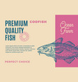 premium quality codfish abstract fish vector image vector image