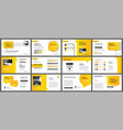presentation and slide layout template design vector image vector image