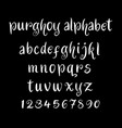 purghoy alphabet typography vector image vector image
