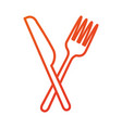 restaurant food fork and knife symbol vector image vector image