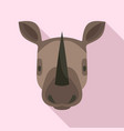 rhino head icon flat style vector image vector image