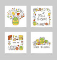 school greeting cards vector image