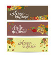 set autumn banners three templates for your vector image