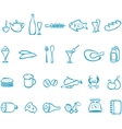 Set handwork icons food vector image vector image