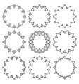 set round frames elegant floral ornament vector image vector image