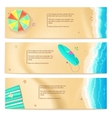 set travel banners vector image vector image