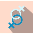 Sign of two women flat icon vector image