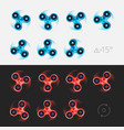 spinner animation sprite sheet vector image