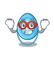 super hero oxygen mask character cartoon vector image