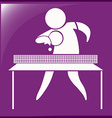 Table tennis icon on purple background vector image vector image