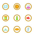 tailor shop icons set cartoon style vector image vector image