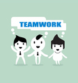 teamwork cartoon vector image