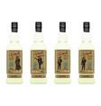 tequila bottle set flat vector image vector image
