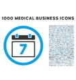 Week Icon with 1000 Medical Business Pictograms vector image vector image