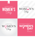 womens day set logo vector image vector image