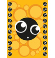 Scared cute monster frame of monsters vector image