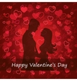 black silhouette of lovers embracing vector image