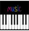 Piano Keys and colorful word Music Card vector image