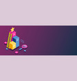 3d infographic for web template flat isometric vector image