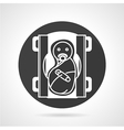 Air purifier flat line icon vector image vector image