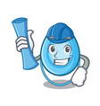 architect oxygen mask character cartoon vector image