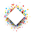 Background with color rhombs vector image vector image