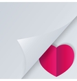 Background with half opened page and heart vector image vector image