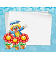 Banner and clown vector image vector image