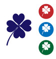 blue four leaf clover icon isolated on white vector image vector image