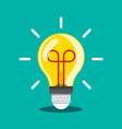 bulb icon idea or inspiration symbol light vector image