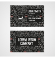Business card template whit funny doodle monstes vector image vector image