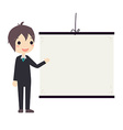 business man presentation vector image vector image