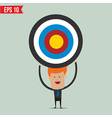 Business man showing target - - EPS10 vector image vector image