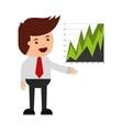 business statistics concept icon vector image
